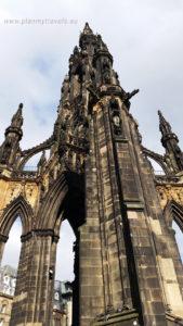 Edynburg i St. Andrews, PlanMyTravels.eu, Edynburg, pomnik Waltera Scotta