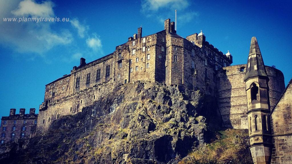 Edynburg i St. Andrews, PlanMyTravels.eu. Edynburg, zamek w Edynburgu