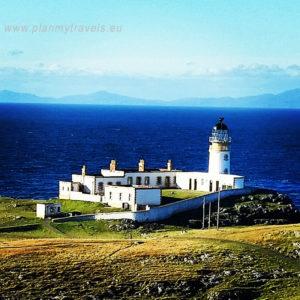 Szkocja, Isle of Skye, PlanMyTravels.eu, Neist Point, Wyspa Skye - latarnia morska