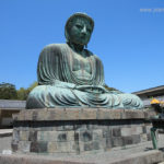 Japan, Kamkura, Sitting Buddha Amida, also known as Kamakura Daibatsu (Great Buddha)