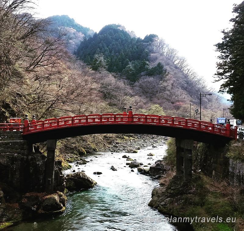 Japonia, NIkko, Nikko - światło słońca, Most Shinkyo