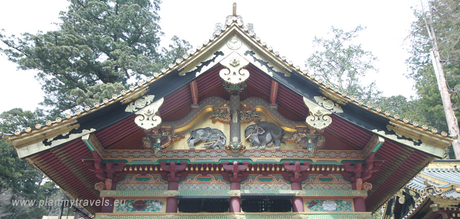 Japan, Nikko, Toshogu Shrine, Imaginary elephants