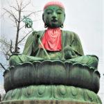 Japan, Nagano, Zenkoji Temple, Nurebotoke statue