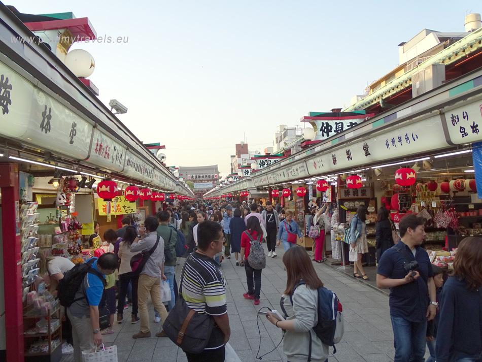 Japonia, Tokio, dzielnica Asakusa, Nakamise-dori