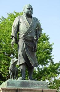 Japonia, Tokio, pomnik Takamori Saigo