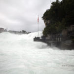 Rhine Falls, on the border between the cantons of Schaffhausen and Zürich