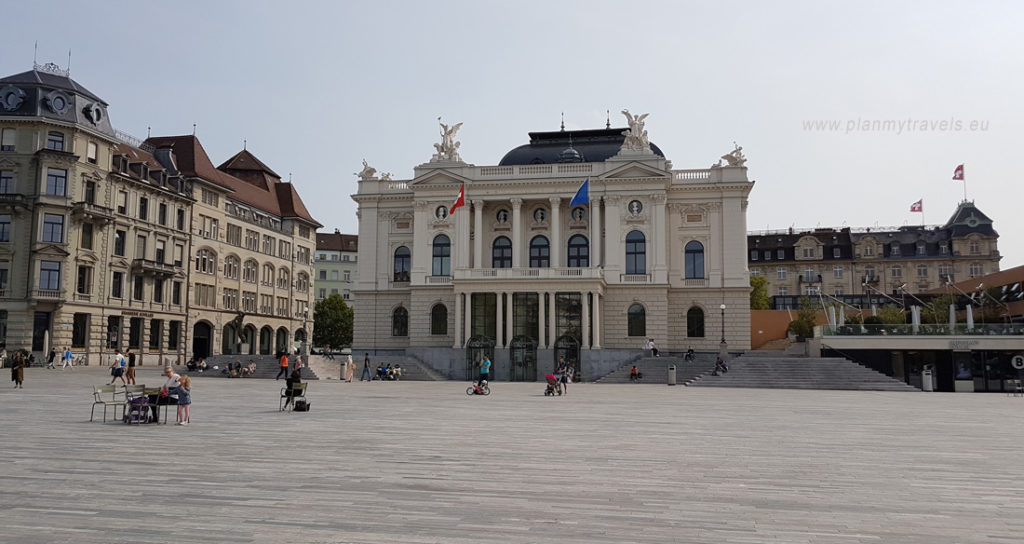 Switzerland, Zurich Opera House, Old Town