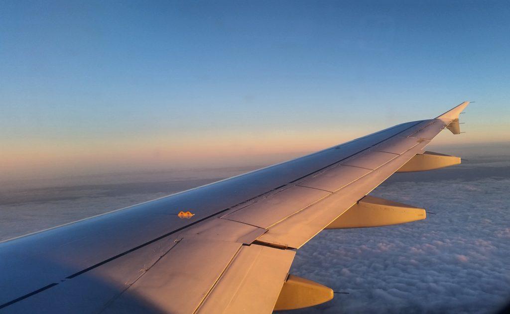 Delayed flight journey