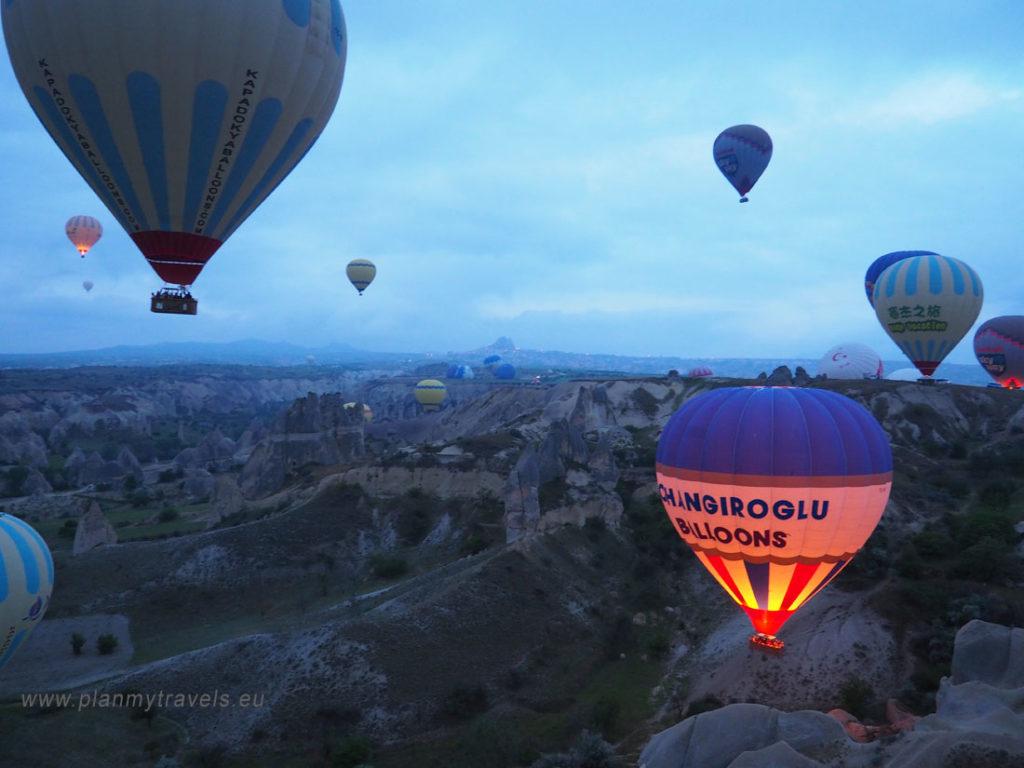 Kapadocja, Turcja, latanie balonem w Turcji