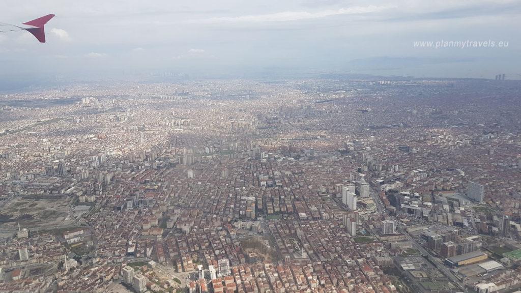 Stambuł widok z pokładu samolotu, Stambuł - nowe lotnisko