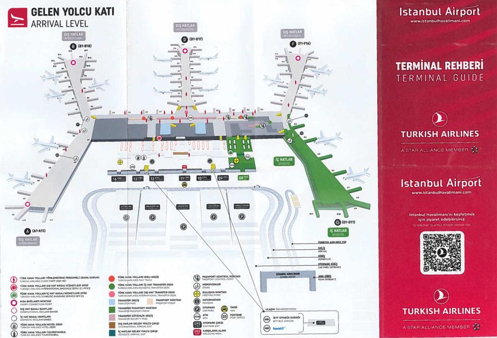 Stambuł nowe największe lotnisko w Turcji, mapa lotniska poziom przylotów