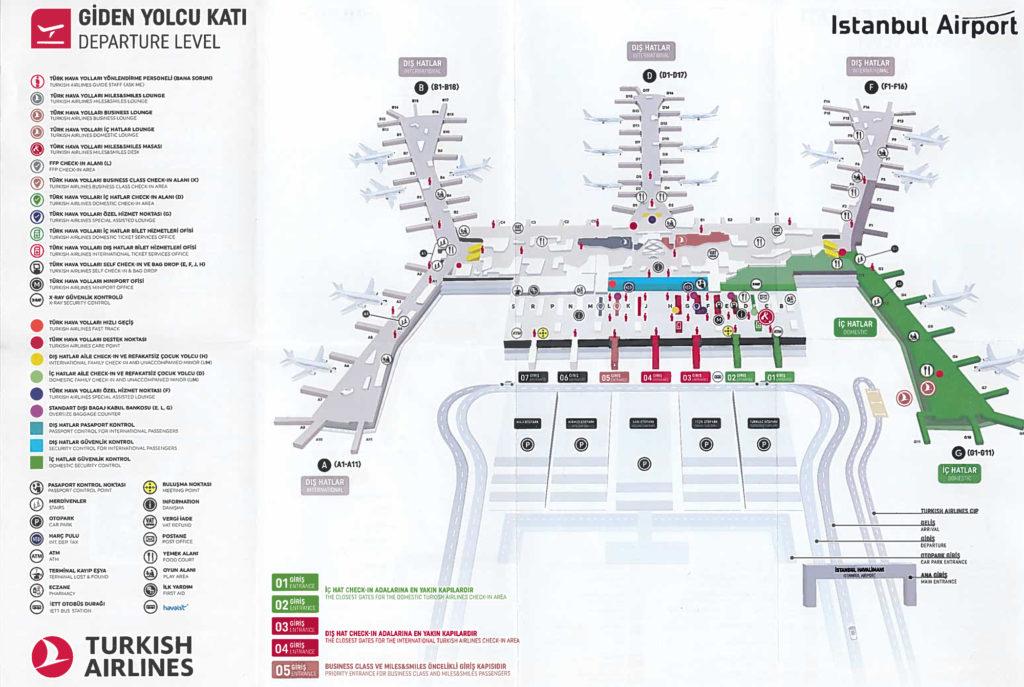 Stambuł nowe największe lotnisko w Turcji, mapa lotniska poziom wylotów