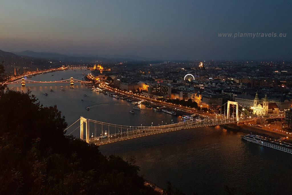 Budapest - top 5 attractions, Danube river, Budapest city by night