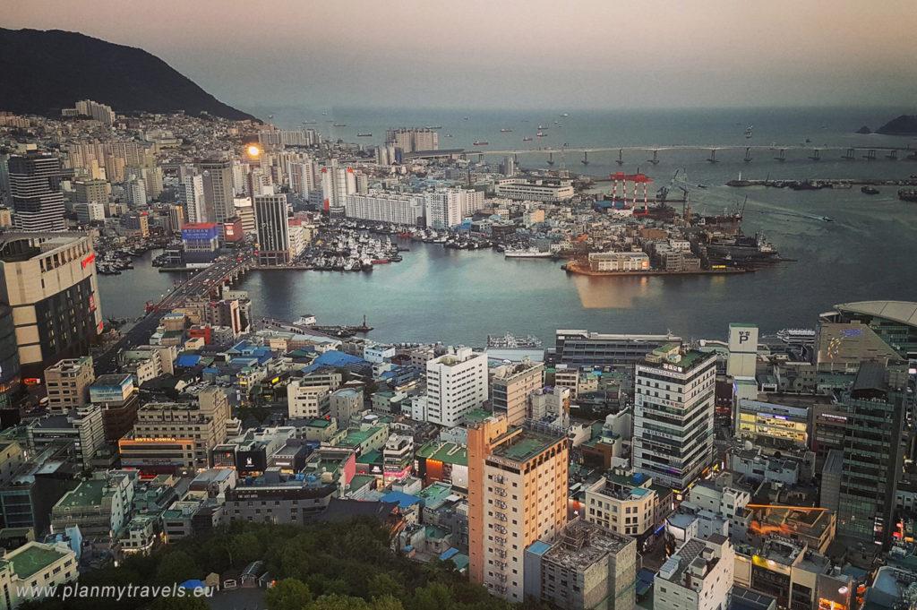 Korea Południowa -autorski plan podróży Busan widok z wieży Busan Tower