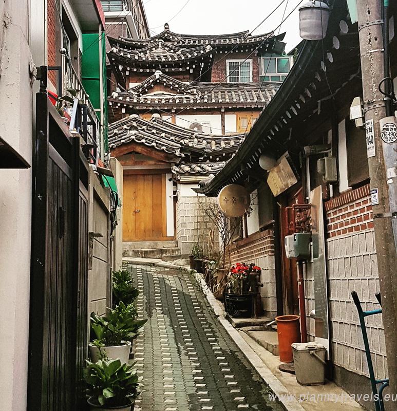 Korea Południowa -autorski plan podróży Seul osada Bukchon Hanok
