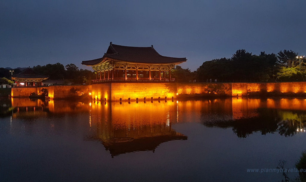 South Korea Gyeongju Donggung Palace and Wolji Pond travelling, trip visiting places
