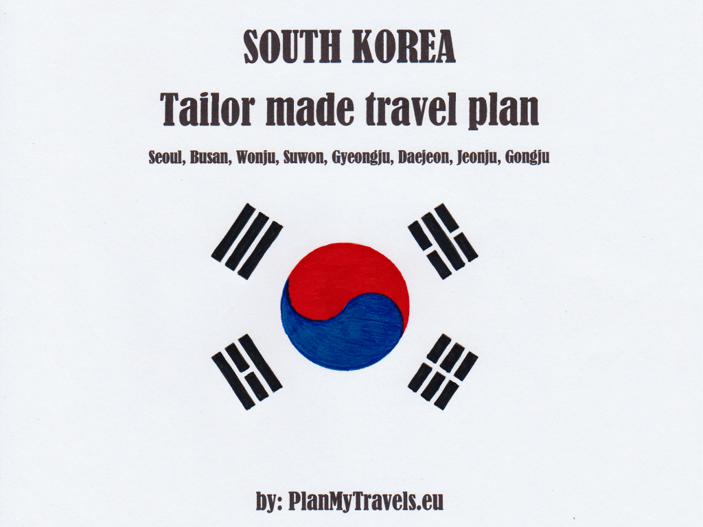 South Korea tailor made travel plan travelling, trip visiting places