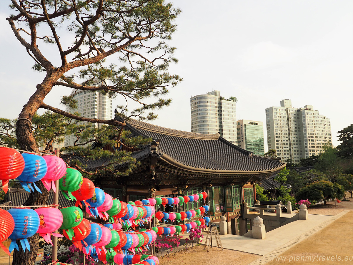 Seoul – the most important tourist attractions, Bongeunsa Temple, silence in the middle of the city, South Korea, Seoul, travel plan, must-see places