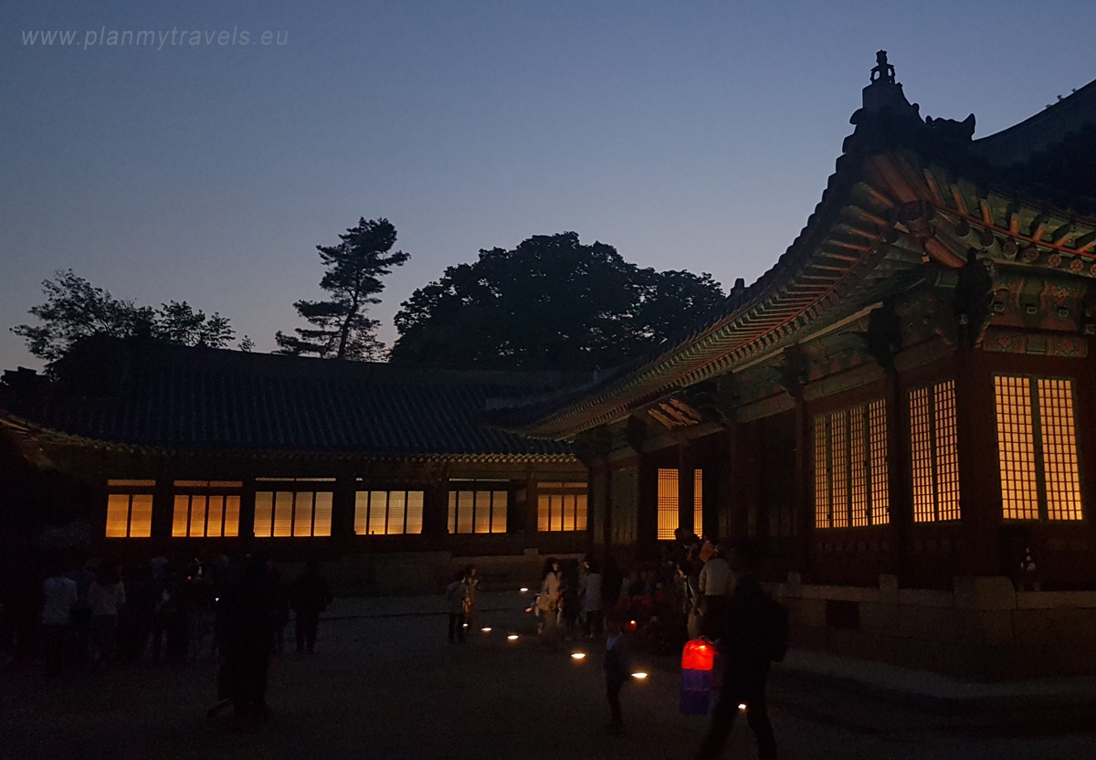 Changgyeonggung Palace by night