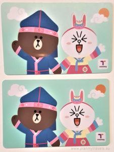 Korea Południowa, karta T-money na przejazdy konukacją miejską na terenie całej Korei
