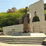 South Korea, Suwon, monumnet of the King Jeongjo