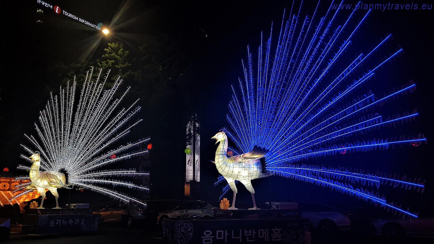 Lotus lantern Festival. solemn parade, Seoul, South Korea