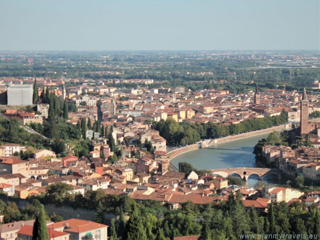 Włochy, Werona, widok z góry