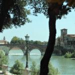 Italy, Verona, Verona Ponte Pietra, Adyga river