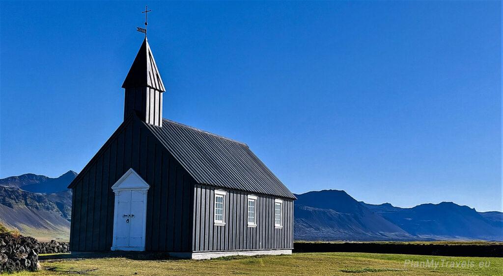 Islandia, Półwysep Snaefell, Czarny Kościół – Budarkirkja, Islandia autorski plan podróży