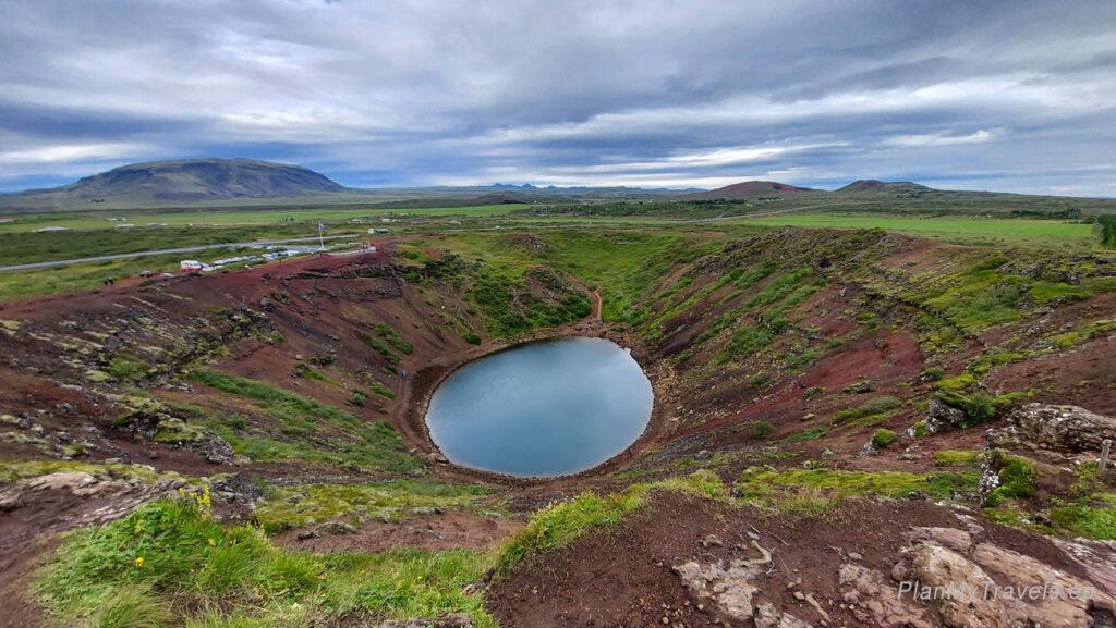 Islandia, Krater Kerið, Islandia autorski plan podróży