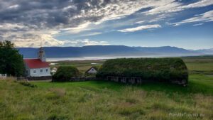 Islandia Północna, Laufas Turf Houses_Eyjafjörður