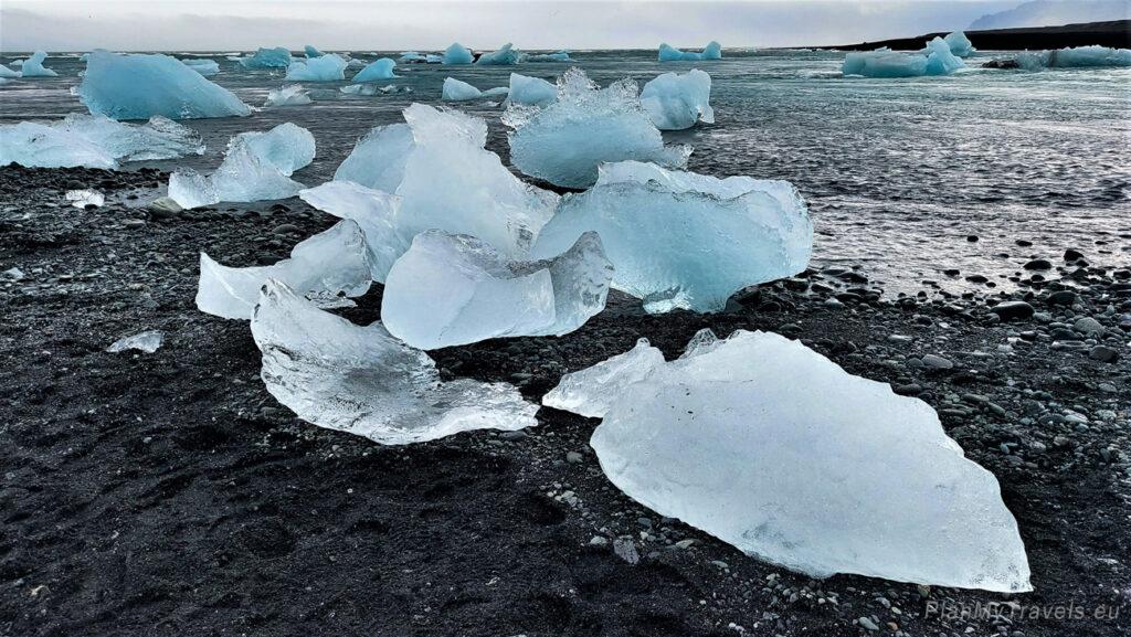 """Islandia, Plaża Diamentowa """"Daimond Beach"""", PlanMyTravels.eu, Islandia autorski plan podróży"""