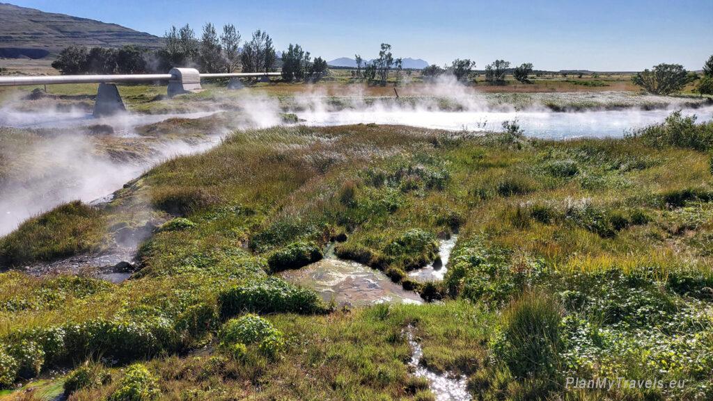 Islandia, gorące źródła Deildartunghver