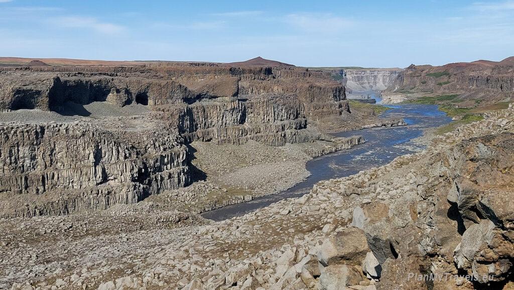 Islandia, kanion Jökulsárgljúfur
