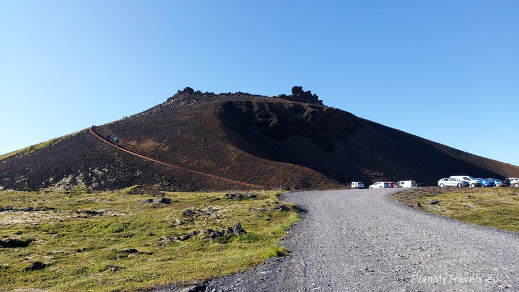 Islandia Zachodnia, Półwysep Snaefell, krater Saxholl