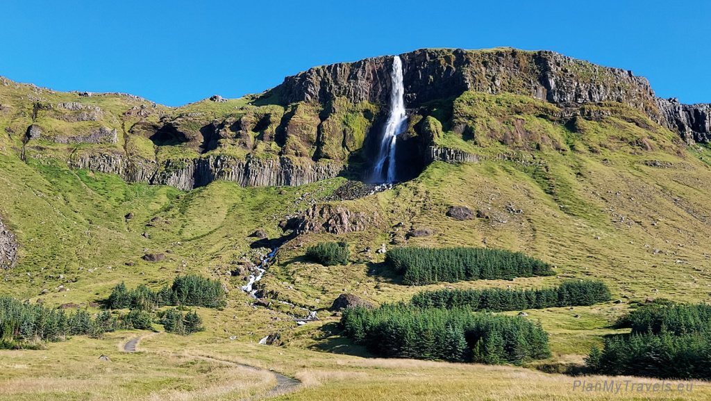 Iceland, Bjarnarfoss Waterfall