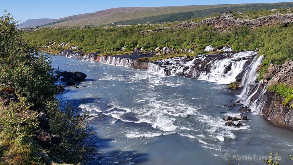 Islandia, wodospady lawowe Hraunfossar