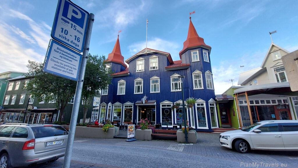 Akureyri Islandia Północna, strefa parkingów czasowych