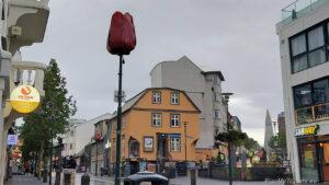 Reykjavik Iceland's capital city, Laugavegur Street