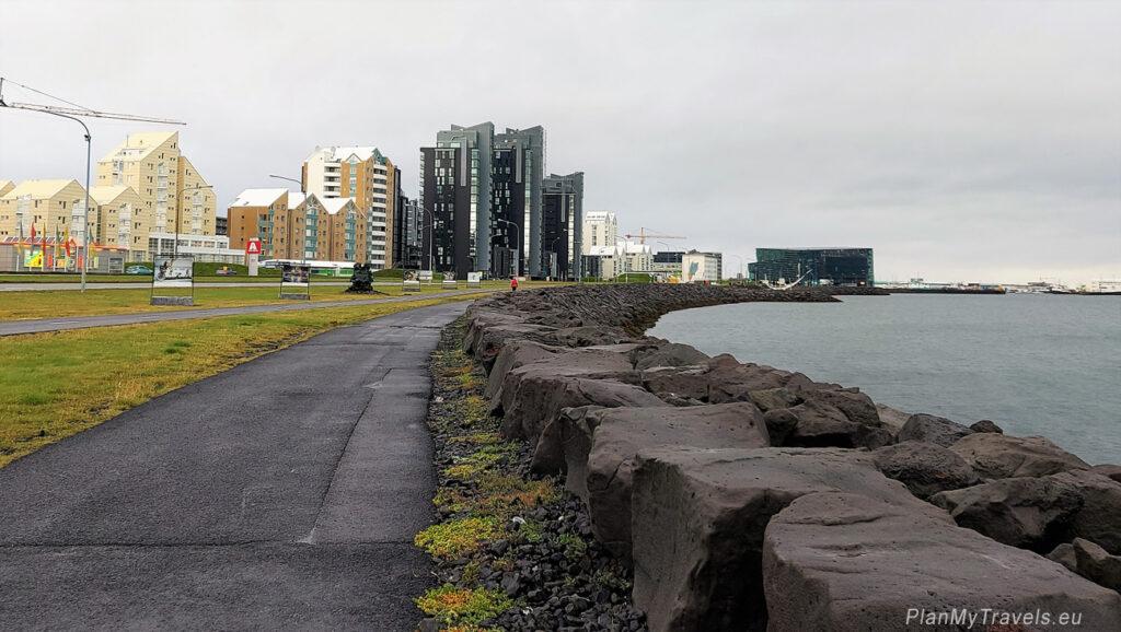 Islandia,Islandia Reykjavik droga wzdłuż zatoki Faxa