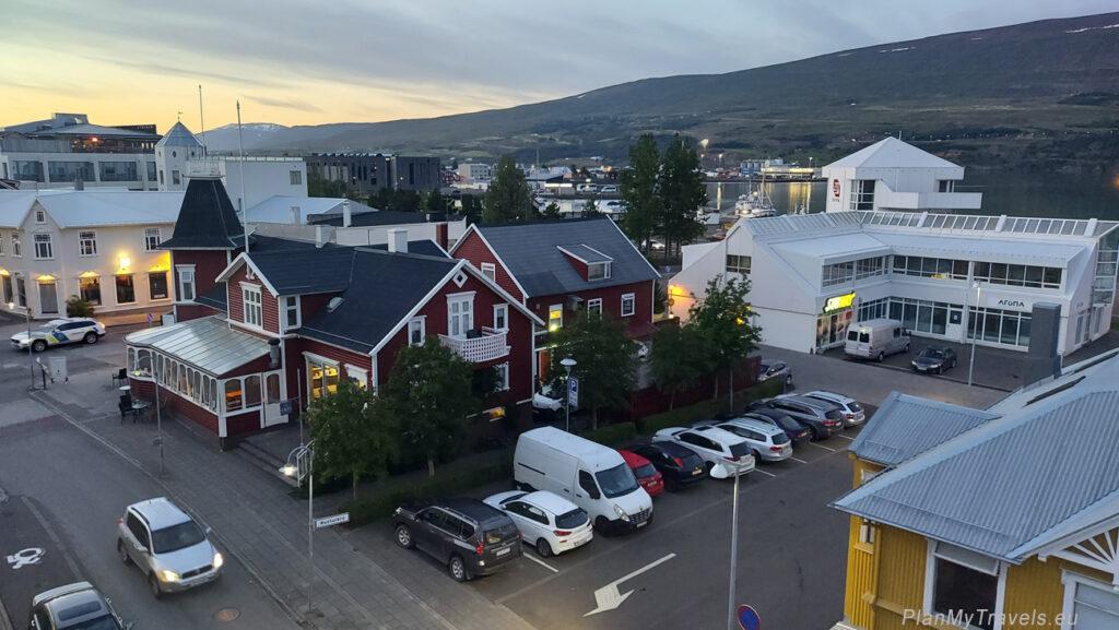 Iceland Akureyri, Akureyri Kea hotel window view