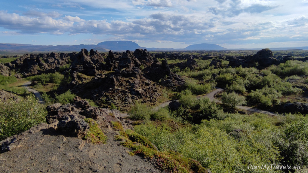 Islandia Północna, Dimmuborgir – czarna twierdza
