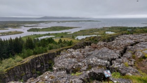 Iceland, Þingvellir National Park, Hakid view point