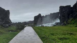 Iceland, National Park Þingvellir, Öxarárfoss Watrefall