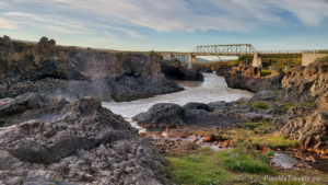 Godafoss Waterfall, bridge
