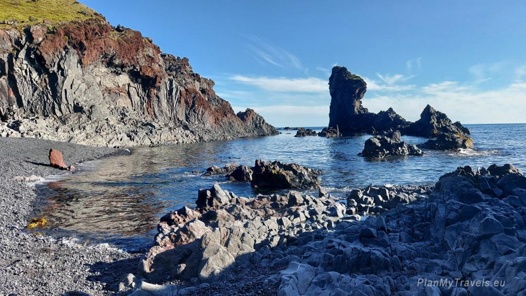 Półwysep Snaefellsnes, Park Narodowy Snaefellsnes, Plaża Djupaonssandur