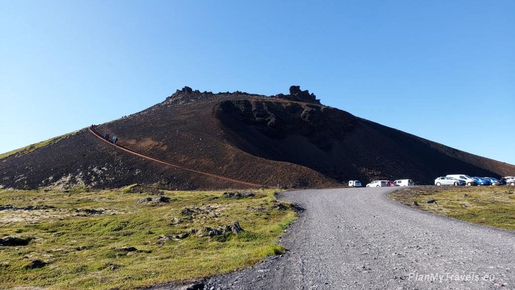 Zachodnia Islandia, półwysep Snaefellsnes, krater Saxholl