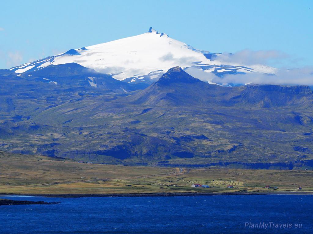 Zachodnia Islandia, półwysep Snaefellsnes, wulkan Snæfellsjökull