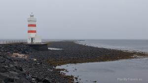 Iceland, Gardskaga Peninsula Lighthouse