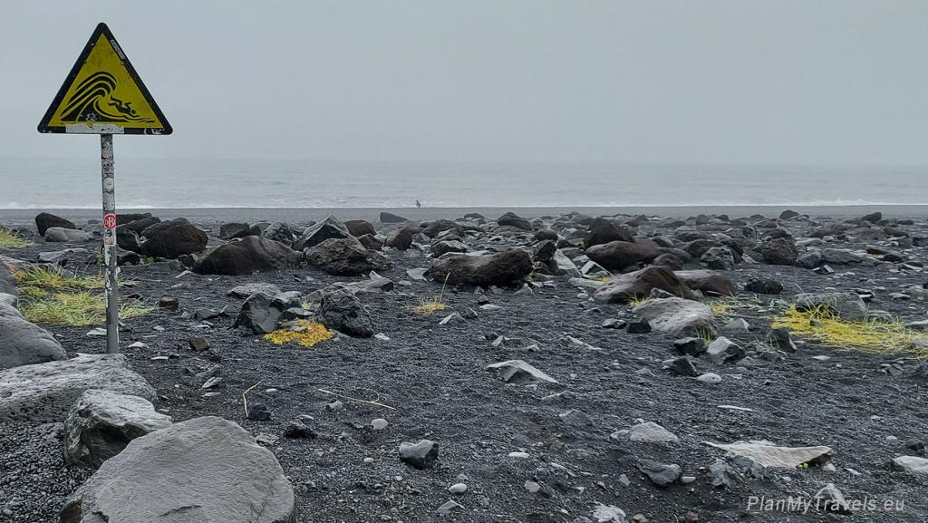 The South Coast of Iceland,Black Beach Reynisfjara